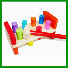 2015 Wholesale Popular Baby Toy Wooden Pounding Beach,Toddler Educational Toy Wooden Pounding Bench