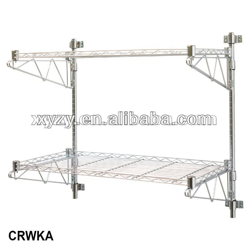 Chrome Wire Shelving Support