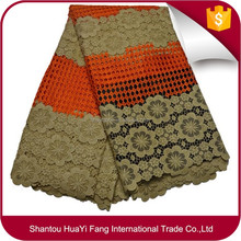 Top quality lace fabric guipure guipure for indian bridal lace fabric african cord lace HY0464
