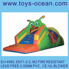 inflatable carpenter worm tunnel /inflatable worm slide game /mini worm air playground