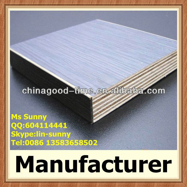 PVC edge sealed plywood melamine board