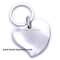 zinc alloy custom shape metal heart keyring (KBK10563)