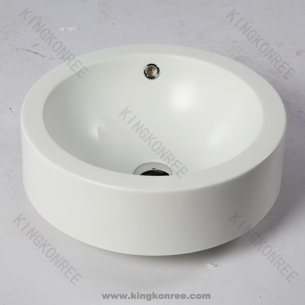 Round over counter top wash basin / Wholesales free standing hand washing sink / Arcylic stone wash basin