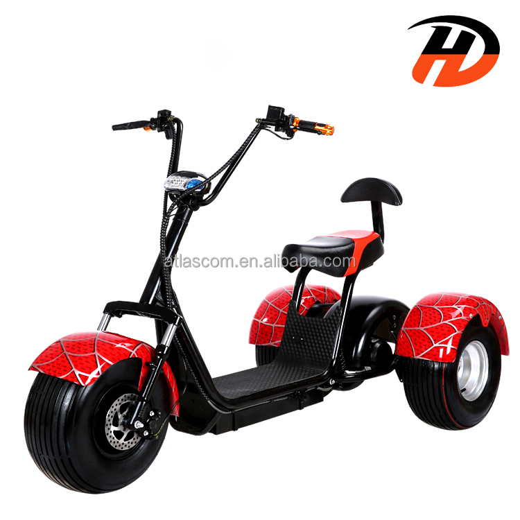 Electric Scooter hot selling 3 wheel motorized bike with off road option