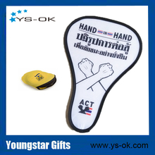 Customized special shape foldable frisbee with steel wire nylon pop up fan