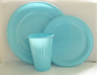 7inch 9inch plastic dinner plate 12oz disposable plastic cup for drinking