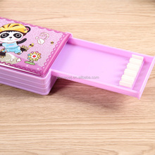 Colorful custom cartoon multifunctional plastic pop out pencil case