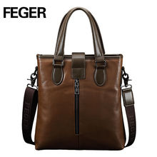 FEGER Real Cow Leather Male Hand Bag Business Hanbags From China