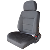 premiun high back black cloth seat
