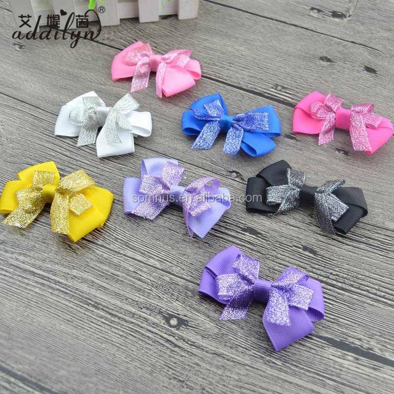 High Quality Girls Sequin Hair Clip Bow Barrette Hairpin Accessories Ribbon Bows