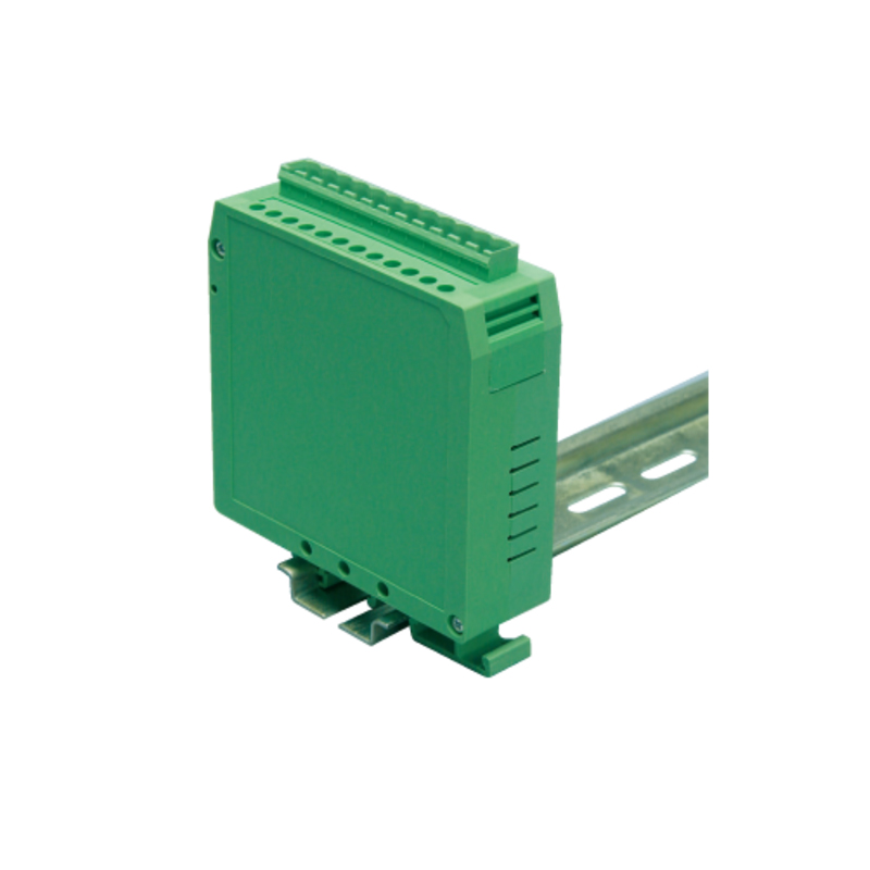 Green PA66 12P terminals din rail electronic plastic enclosure