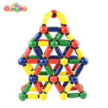 120 pcs Gangbo 2017 hot new products baby magnetic sticker magnetic ball rod toys
