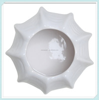 Elegant White Ceramic Pumpkin Shape Flower Pot
