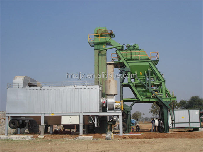 MOBILE ASPHALT MIXING PLANT, TOWER TYPE 80TON PER HOUR FOR SALE