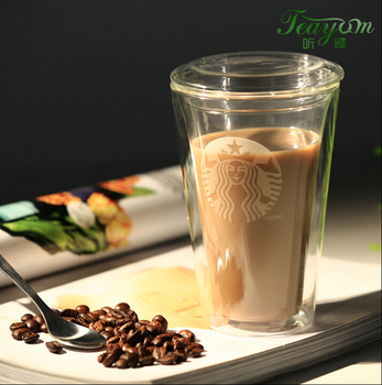 new products 250ml 450ml Espresso double wall glass cup heat resistant glass cup custom glass cup with printing