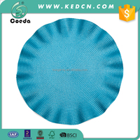 Wedding Table Decoration Round Ruffle Woven Plastic Placemat