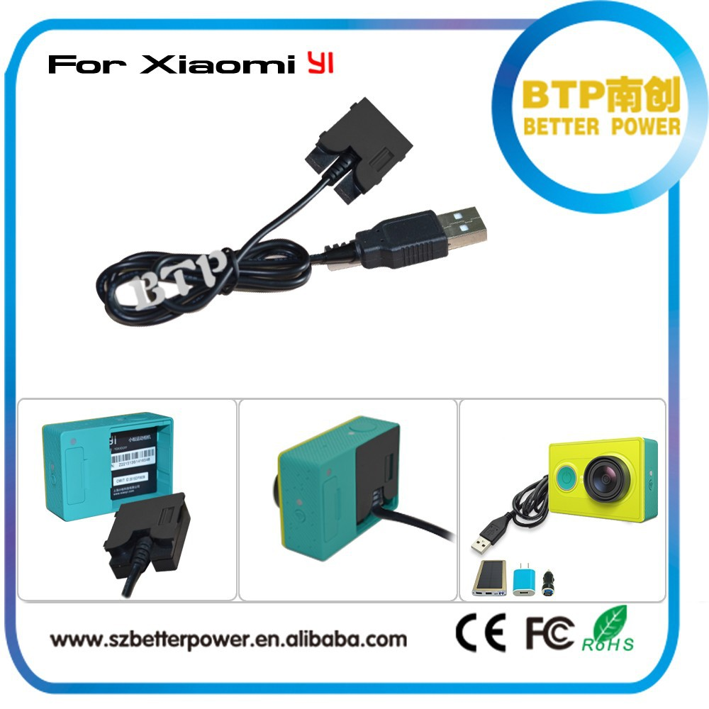 No Time Limited Shoot!!5-24V USB DC Coupler For Xiaomi Yi Camera Waterproof Case,Power Supply Replace Battery For Xiaomi Yi