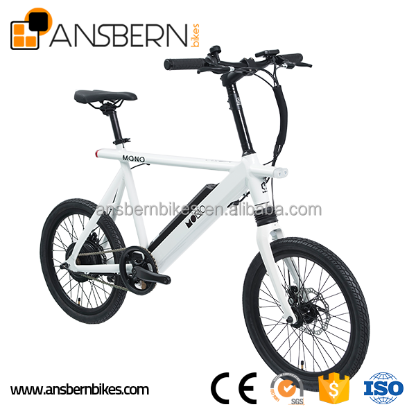 Fashionable 20 Inch 350W 36V 8.8AH Single Speed Electric City Bike electric super pocket bike ASB-EB-01