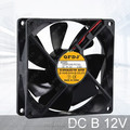 9225 12v plastic blades axial fan 92*92*25mm computer cooling fan