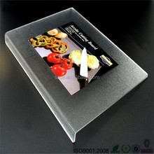 Factory counter decorative acrylic cutting boards with lip