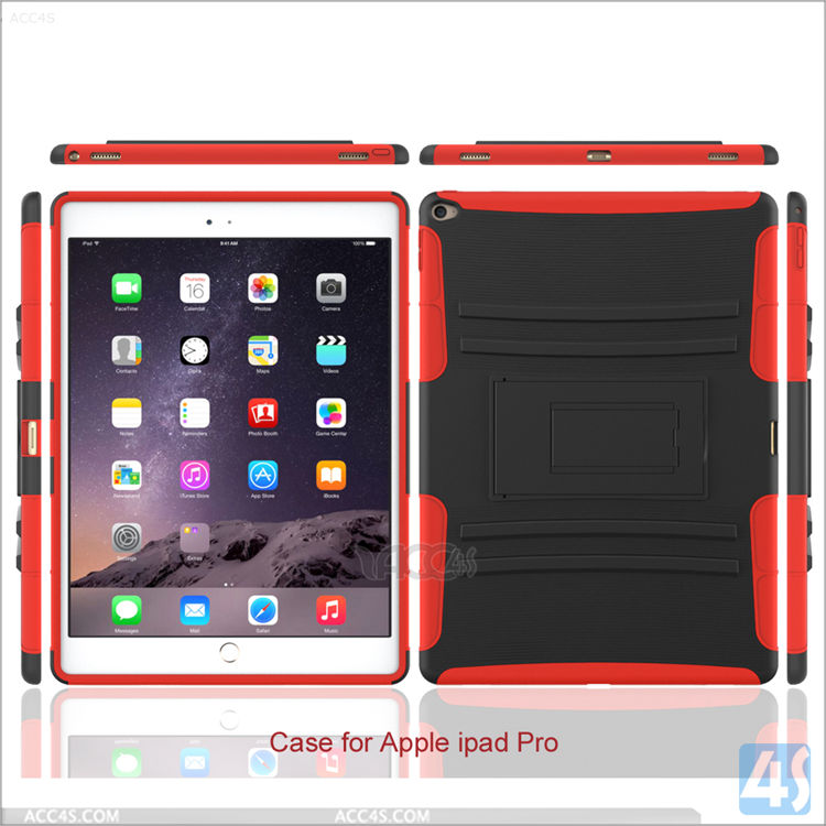 Hybrid Shockproof Impact Dual Layer Heavy Duty kickstand Case for Apple Ipad Pro