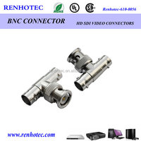 dual BNC female to BNC male adapter connector rf coaxial connectors