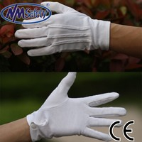 NMSAFETY cheap white cotton hand gloves white gloves