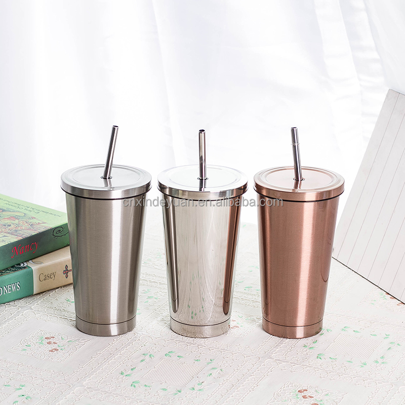 500ml stainless steel vacuum insulated travel mug starbucks mug straw tumbler