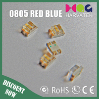 high quality 1.1mm thickness ce rohs approved 0805 red blue dual color led