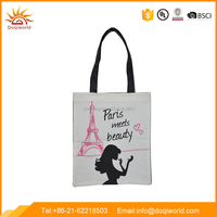 Canvas meterial simple design tote bag for shopping and promotion