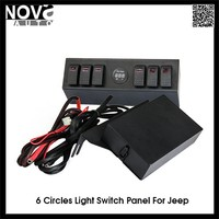 Car Accessory 6 Circles Audio Wiring Switch Panel