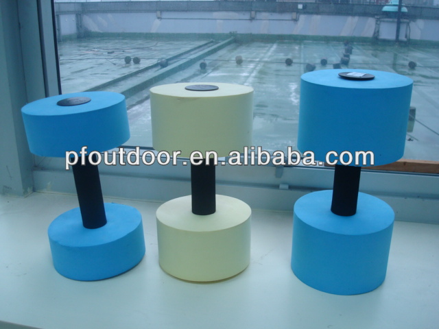 EVA foam swimming dumbbells/ pool dumbbells/ aqua barbell