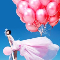 Big sale children party supplies pink happy birthday balloons wholesale pearlized balloons