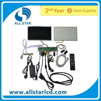 VGA +H +AV LCD driver board +LCD LP156WH4 1366*768 +OSD keypad with cable+Touch panel with control card+Remote control