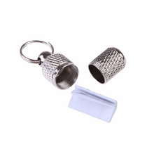 tiny metal jar dog tag with personalized informtaion inside silver diamond pattern cat pet chic tag jar