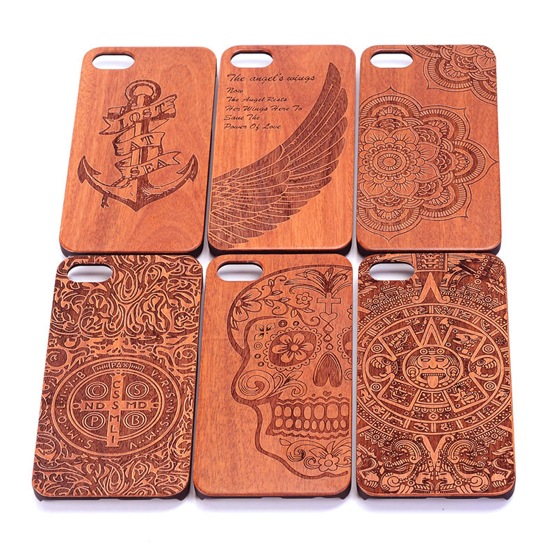 New products Natural Real Wooden Hard Carved Wood Phone Case Cover Protect For iPhone 7 Case