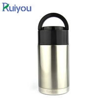 Custom adult 304 stainless steel vacuum insulated thermos hot pot lunch box
