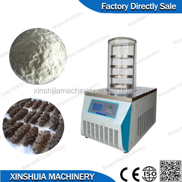Small capacity liquid vacuum freeze dryer