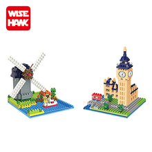 Wisehawk plastic diamond building block Netherlandish windmills smart indoor kids play area toys