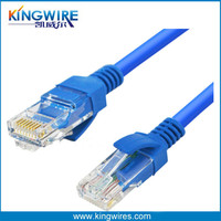 CAT5e UTP Cable Solid 24AWG Blue Network Ethernet LAN Wire RJ45 connector