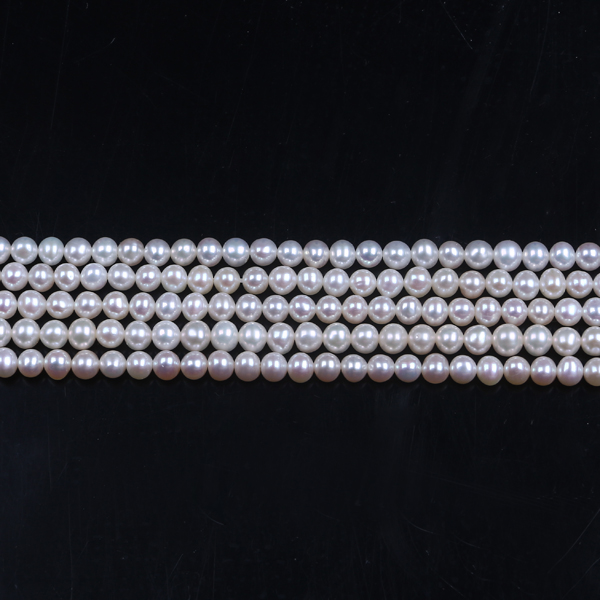 Natural freshwater pearls ,4.5-5 mm AAA near round loose pearl beads