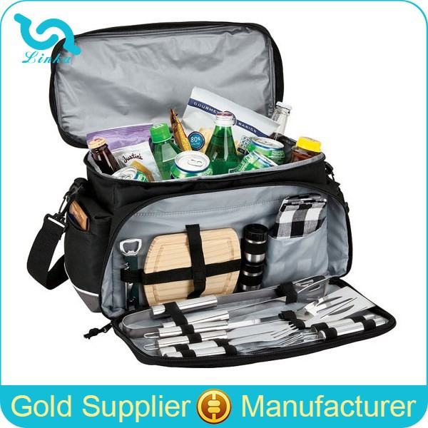 Deluxe Polyester Picnic Cooler Bags Family BBQ Picnic Cooler Bags