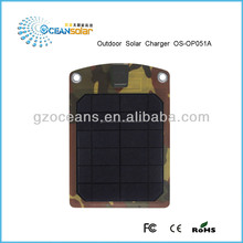 5W Waterproof portable photovoltaic panel solar charger