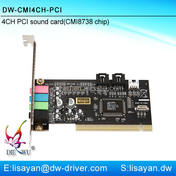 Full duplex 3D 4CH PCI sound card with CMI 8738 chip