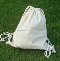 wholesale blank cotton gym sack drawstring bag
