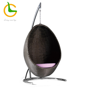 Outdoor wicker egg shape hammock chair LG50-9587