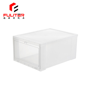 Custom Design Giant Drawers Clear Drop Front Packaging Plastic Shoe Box Storage