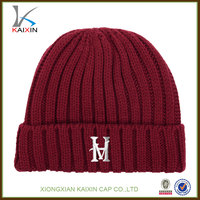 custom your own logo fitted new fashion hand made wholesale cashmere beanie hats