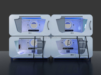 Latest Beautiful Design Patented Transverse Capsule Hotel Bed ,Capsule Hotel manufacturer