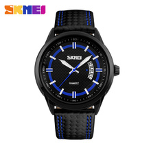 Handsome men's watch gentle low moq watches luxury Genuine Leather